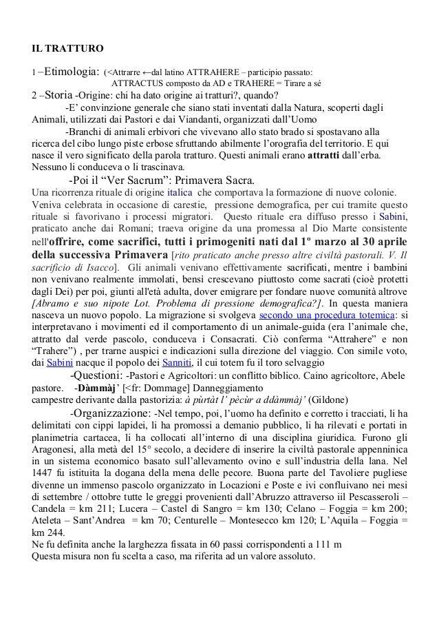IL TRATTURO 1 –Etimologia: (<Attrarre ←dal latino ATTRAHERE – participio passato: ATTRACTUS composto da AD e TRAHERE = Tir...
