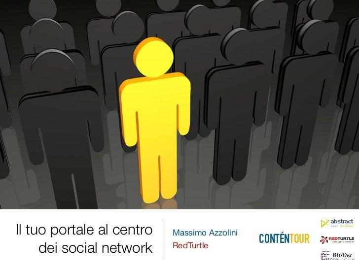 Il tuo portale al centro   Massimo Azzolini                                              CONTÉNTOUR     dei social network...