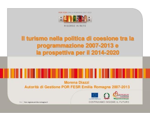 Il turismo nella politica di coesione - Regione Emilia Romagna