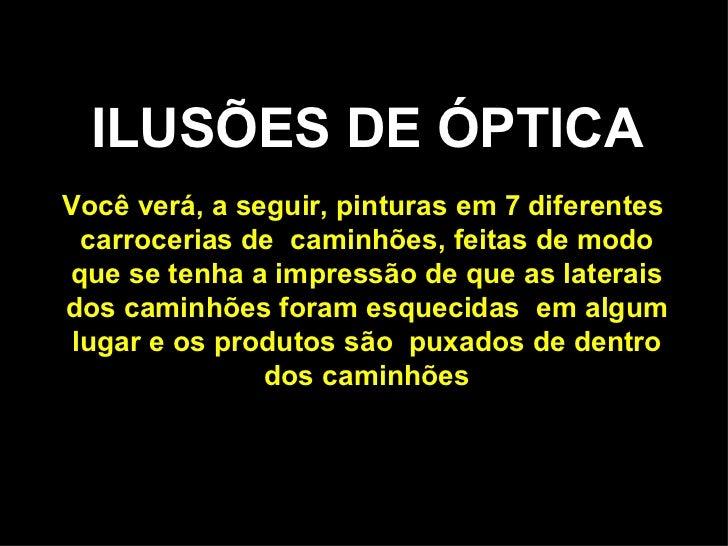 Ilusoes de optica - pinturas