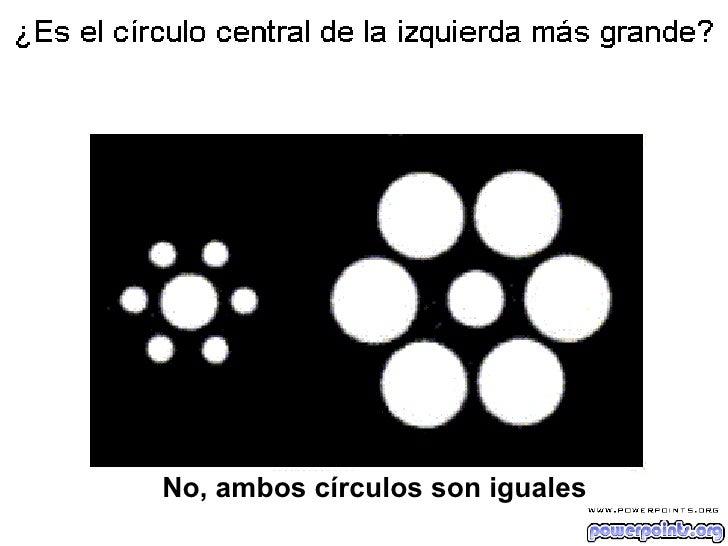 No, ambos círculos son iguales