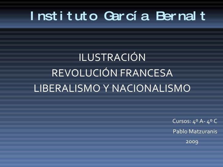 IlustracióN Rev. Francesa  Liberalismos Y Nacionalismos