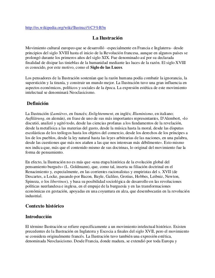 http://es.wikipedia.org/wiki/Ilustraci%C3%B3n                                         La IlustraciónMovimiento cultural eu...