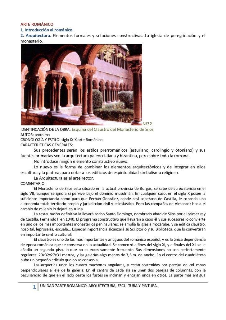 ARTE ROMÁNICO1. Introducción al románico.2. Arquitectura. Elementos formales y soluciones constructivas. La iglesia de per...