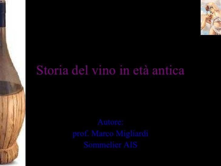 Il vino in eta antica