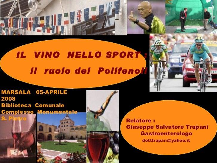 Il  vino  nello sport  il ruolo dei polifenoli