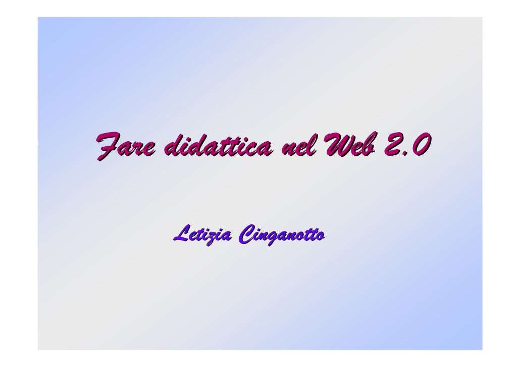 Il Web 2.0 Marzo09