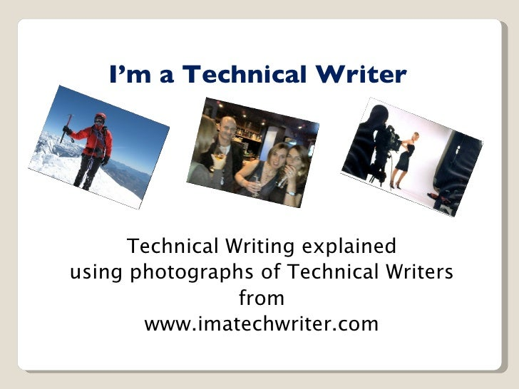 Technical Writer - Exploding the myths