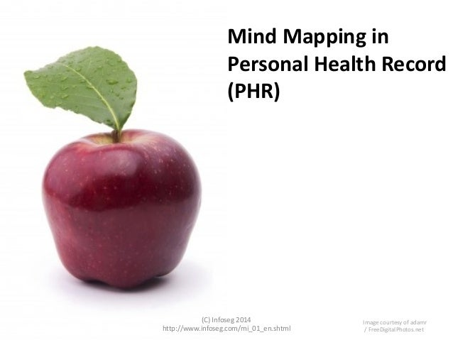 Mind Mapping in Personal Health Record (PHR)  (C) Infoseg 2014 http://www.infoseg.com/mi_01_en.shtml  Image courtesy of ad...