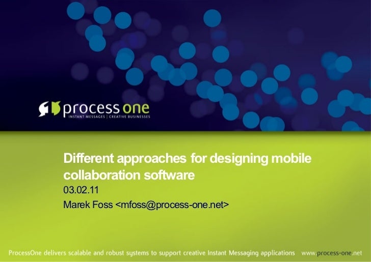 SeaBeyond 2011 ProcessOne - Marek Foss: designing mobile collaboration software