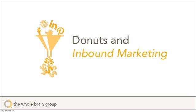 Donuts and                          Inbound MarketingFriday, February 22, 13