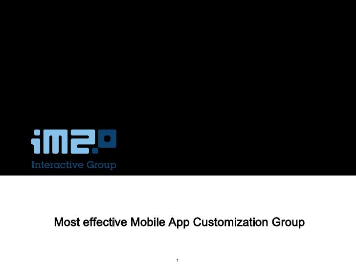 Most effective Mobile App Customization Group                     1