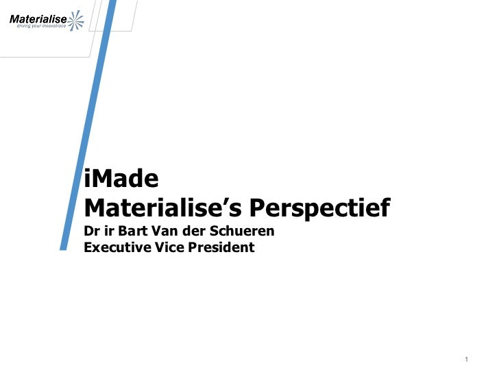 Materialise on iMade.be