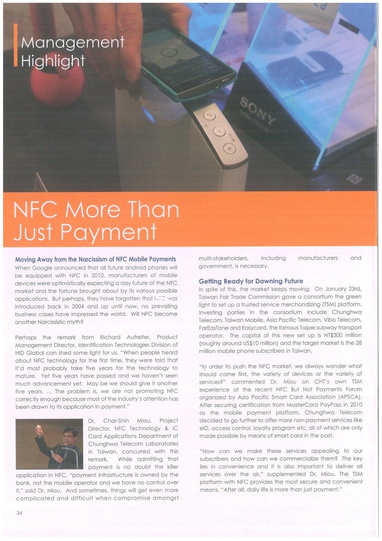 Near Field Communication - Magazine cover