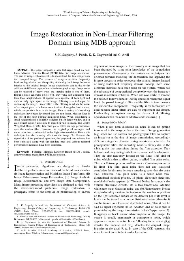 Image restoration-in-non-linear-filtering-domain-using-mdb-approach