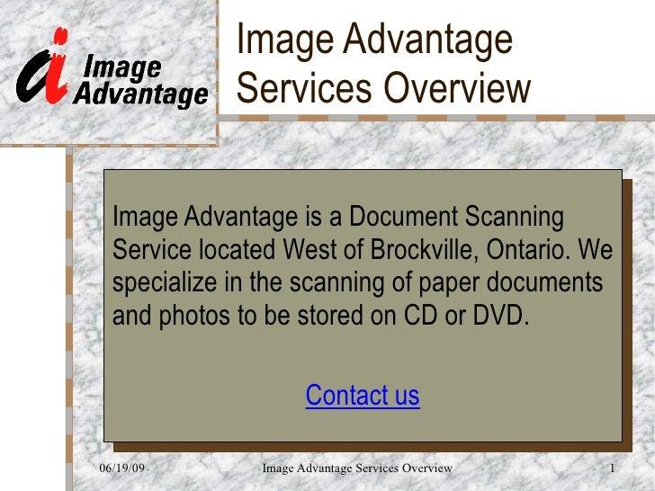Image Advantage Services Overview June 2009