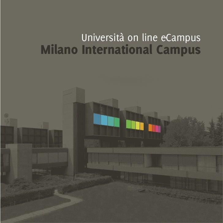 Università on line e-CampusMilano International Campus