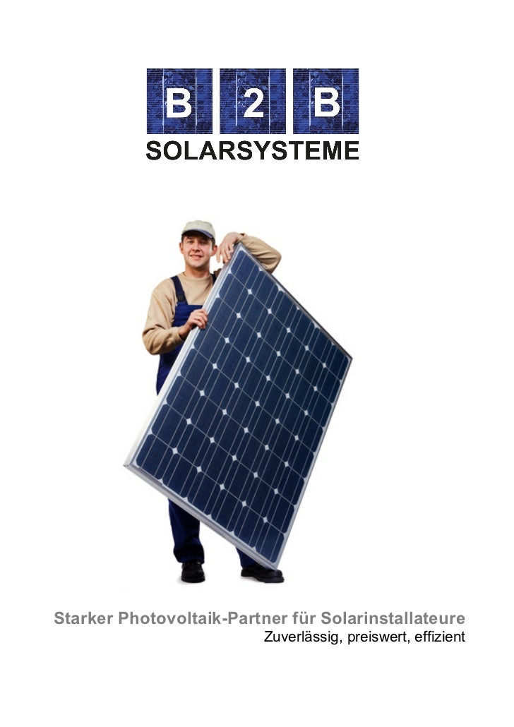 Starker Photovoltaik-Partner für Solarinstallateure                                      Zuverlässig, ...