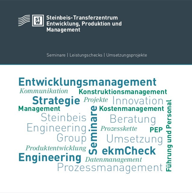 Entwicklungsmanagement InnovationStrategie Kommunikation FührungundPersonalProzessmanagement Engineering Kostenmanagement ...