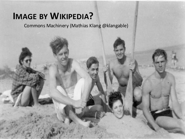 IMAGE BY WIKIPEDIA? Commons Machinery (Mathias Klang @klangable)
