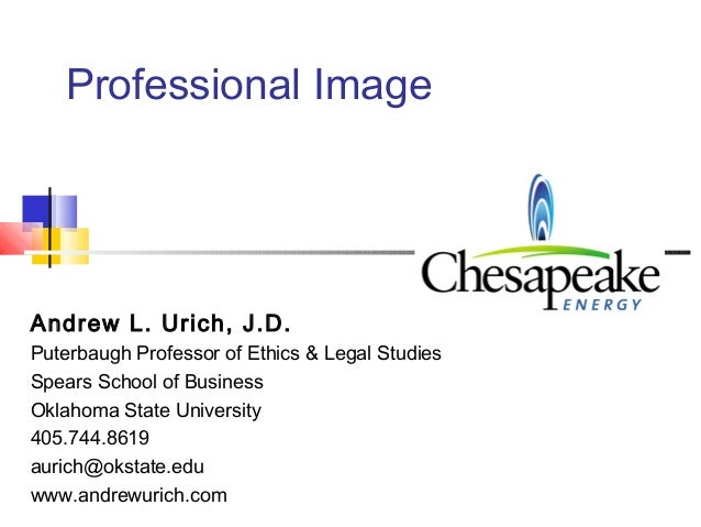Professional ImageAndrew L. Urich, J.D.Puterbaugh Professor of Ethics & Legal StudiesSpears School of BusinessOklahoma Sta...