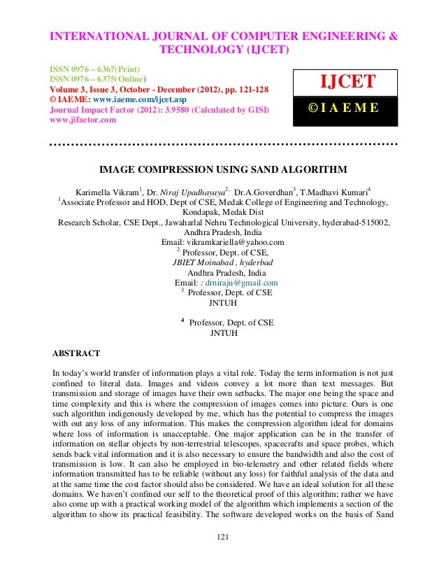 INTERNATIONAL Computer Engineering and Technology ENGINEERING – International Journal of JOURNAL OF COMPUTER (IJCET), ISSN...