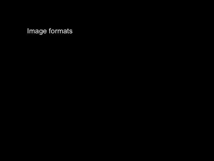 Imageformats