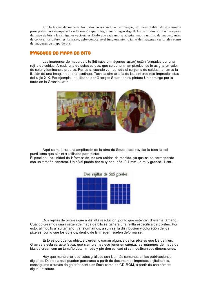 Imagen digital: tipos, compresión y formatos