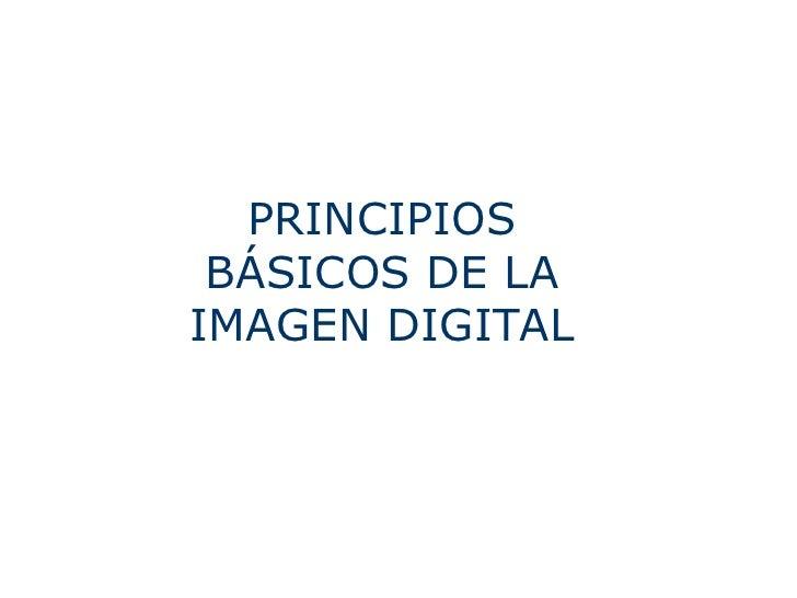 PRINCIPIOS BÁSICOS DE LA IMAGEN DIGITAL