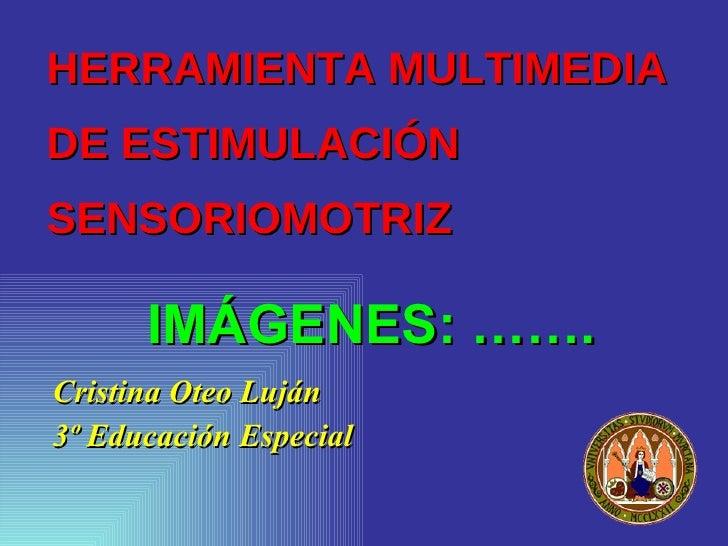 HERRAMIENTA MULTIMEDIA  DE ESTIMULACIÓN SENSORIOMOTRIZ <ul><li>Cristina Oteo Luján </li></ul><ul><li>3º Educación Especial...