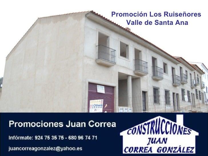 Promoción Los Ruiseñores  Valle de Santa Ana