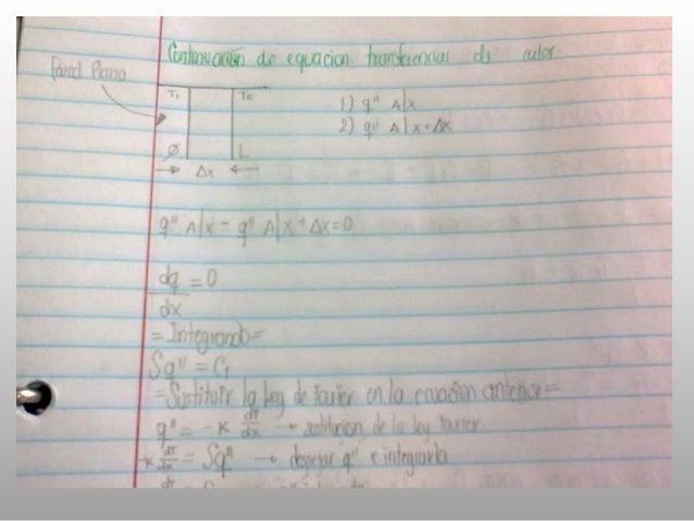 Desarrollo de Ecuación de Trasferencia de calor de Fourier