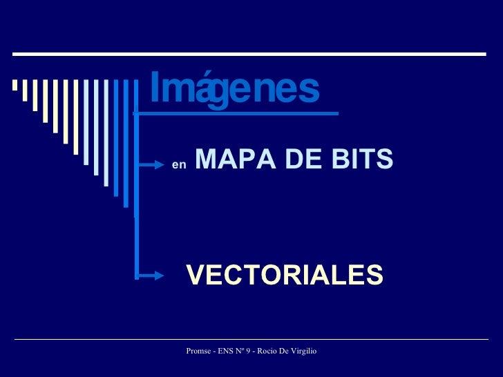 Imágenes en  MAPA DE BITS VECTORIALES