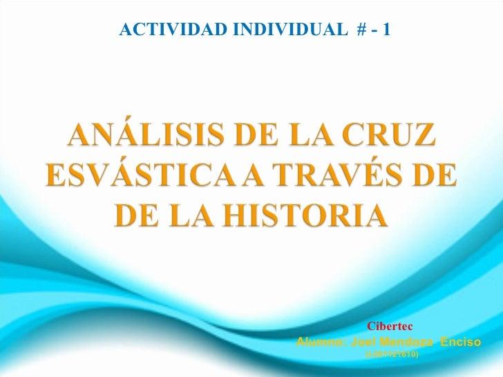 ACTIVIDAD INDIVIDUAL # - 1                          Cibertec                Alumno: Joel Mendoza Enciso                   ...