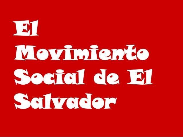 Imagenes del mov social en el salvador