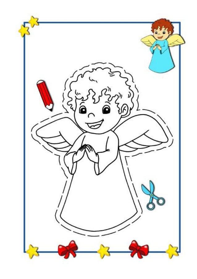 Imagenes de navidad para colorear - Dibujos postales navidad ninos ...