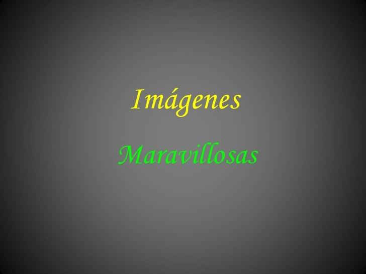 Imagenes Maravillosas