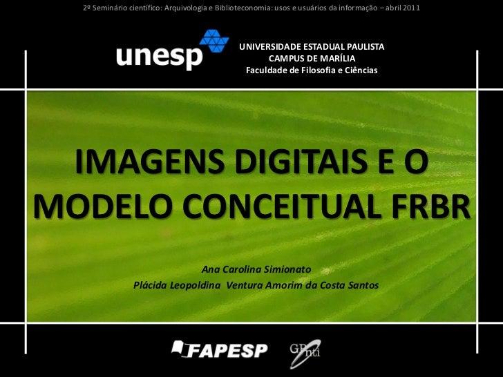 Imagens digitais e o modelo conceitual FRBR