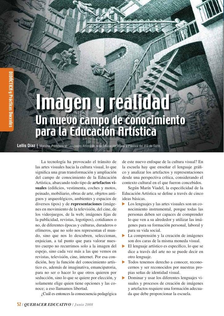 DIDÁCTICA y Prácticas Docentes                                              Imagen y realidad                             ...