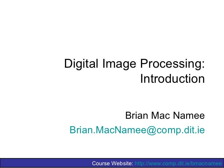 Image processing1 introduction