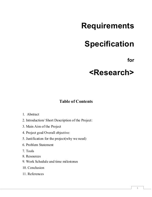 Short research proposal phd