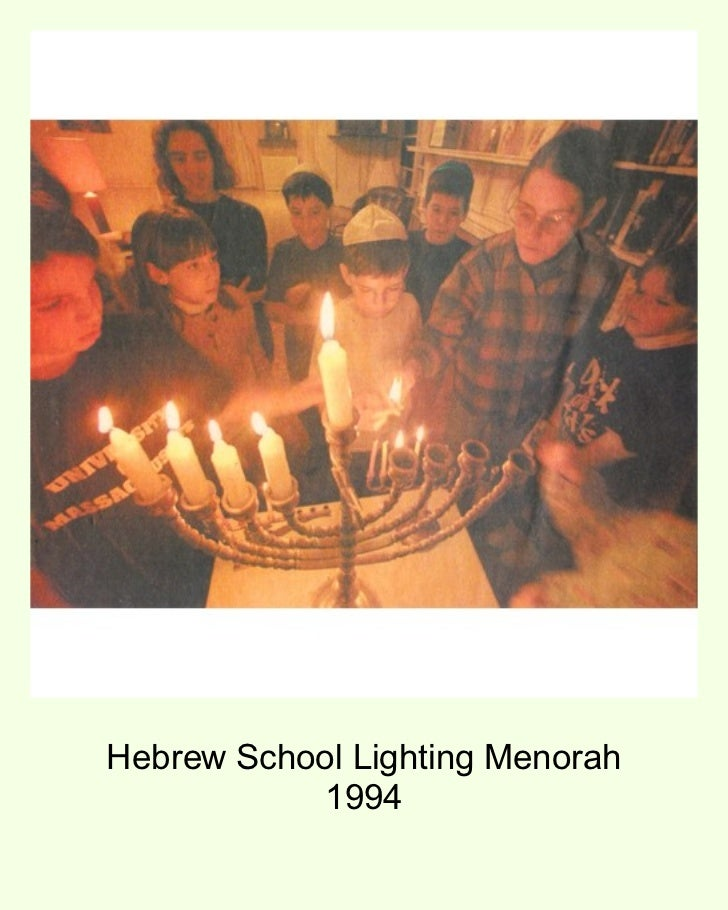 Hebrew School Lighting Menorah 1994