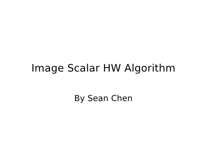 Image scalar hw_algorithm