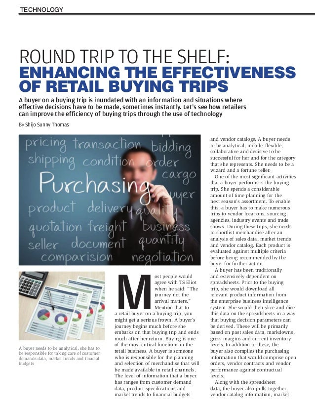 Improving the efficiency of retail buying trips - Shijo Thomas