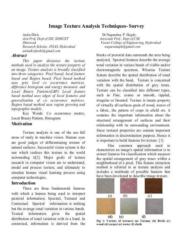 Image texture analysis techniques  survey-1
