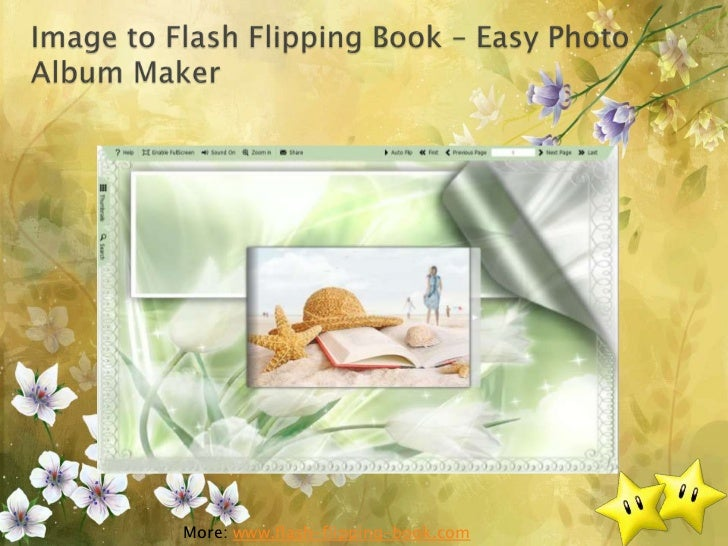Image to flash flipping book   easy photo album maker