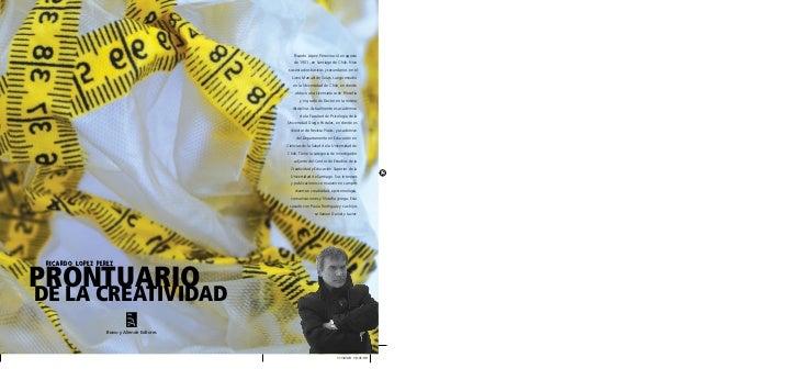 RICARDO LOPEZ PEREZPRONTUARIODE LA CREATIVIDAD                  Bravo y Allende Editores