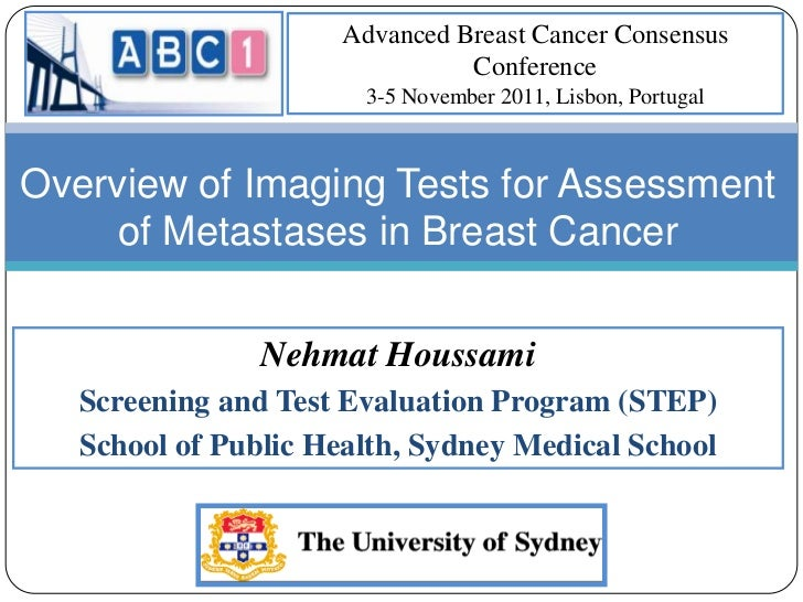 ABC1 - N. Houssami - Overview of imaging tests for assessment of metastases in breast cancer