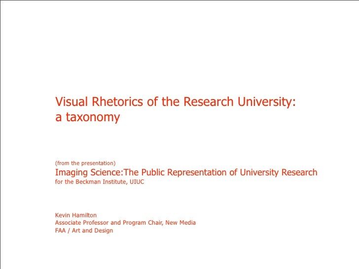 Visual Rhetorics of the Research University