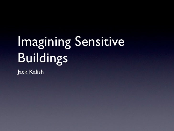 Imagining Sensitive Buildings - Real Light Network System